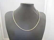 BEAUTIFUL 50cm GOLD PLATED SNAKE CHAIN NECKLACE 3mm THICK  w/SNAP CLASP #NB 021