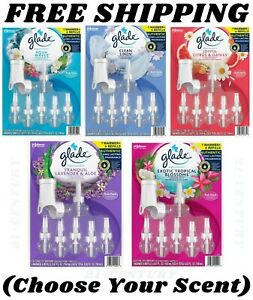 Glade PlugIns Scented Oil Refills + Warmer (Choose Your Scent) FREE SHIPPING