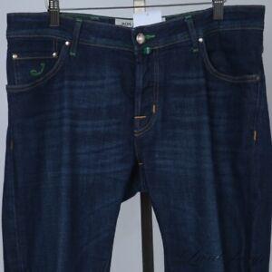 Jacob Cohen Hand Made Veneto Italy Dark Stretch Denim Green Trim Jeans 35 NR #3