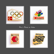 PIN'S KODAK VINTAGE ANNÉES 80/90 PHOTO VIDÉO COLLECTION LOT DE 4