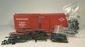 *OLDIE* TEXAS & PACIFIC BOXCAR O SCALE KIT INTERMTN BOX STORED *BARGAIN* N/R