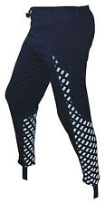 CHEX Athens Cycling Unpadded Leggings Reflective Print Panel Blue Size Small
