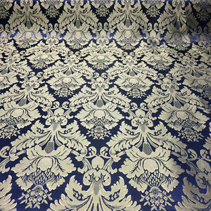 "Damask Jacquard Brocade Flower Floral Fabric 118"" By the Yard - MANY COLORS!"