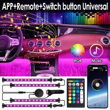4x LED RGB Auto Lichtleiste Ambientebeleuchtung Innenraumbeleuchtung Set APP 12V