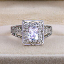 Sapphire Rings for Women Size 9 Gorgeous 925 Silver Wedding Rings White