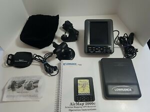 LOWRANCE AIRMAP 2000C-AVIATION  MAPPING GPS Reciever with Antenna Instructions +