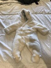 Newborn Baby Winter Thicken Cartoon Sheep Snowsuit Warm Fleece Hoodie Romper 0-6