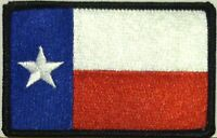 TEXAS STATE FLAG PATCH Tactical EMBROIDERED IRON-ON LONE STAR TX Black Border #1