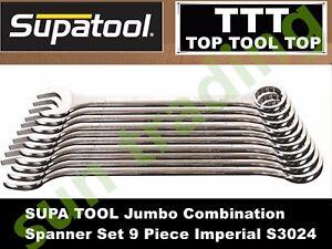 SUPATOOL Heavy Duty Jumbo Combination Spanner 9pcs set, 9PCS Imperial S3024