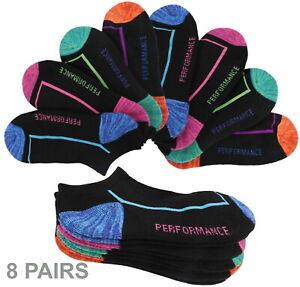 8 Pairs LOW CUT Cotton SOCKS Mesh Top Cushion Bottom Size 9-11 Athletic Socks