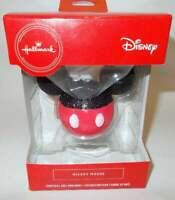 Hallmark Red Box Christmas Tree Ornament Disney Mickey Mouse Ears 2019 Glitter