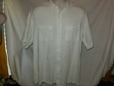 L.L.Bean Men's L Reg Solid White Button-Front  Shirt  NWOT