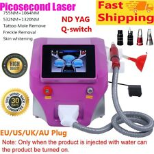 Picosecond Laser Nd YAG Q-switch Tattoo Removal Eyebrow Remover Machine FASTSHIP