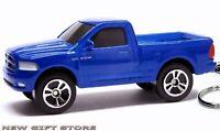 RARE KEY CHAIN BLUE DODGE RAM 1500 4X4 HEMI TRUCK SUT NEW CUSTOM LIMITED EDITION