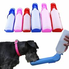 250/500ml Dog Water Bottle Feeder With Bowl Plastic Portable Pets Water Bottle
