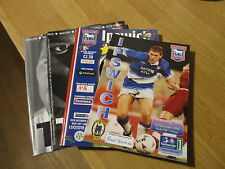 FOUR GREAT Ipswich Town Football Club Home Programmes 1996-2004 Leicester City
