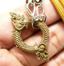 AMULET NECKLACE CHARM DUO NAGA NAK SNAKE PENDANT THAI LOVE SEX APPEAL ATTRACTION