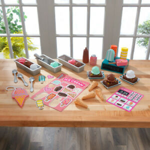 Kidkraft Ice Cream Shop Play Pack | Wooden Kitchen Shop Accessory Set 42 Pieces