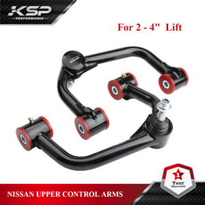 "KSP Front Upper Control Arms for 2-4"" Lift For 2004+ Nissan Titan Armada"