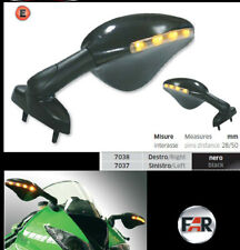 Specchi spiegel mirrors retroviseurs espejos moto led indicators road 7037 7038