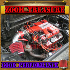 RED 1984-1988/84-88 PONTIAC FIERO SE/GT 2.8L V6 AIR INTAKE INDUCTION KIT