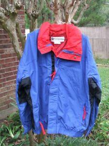 Columbia Bugaboo Blue / Red Ski Snowboarding Jacket Parka Size L Mens Coat Nylon