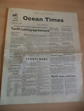 OLD VINTAGE OCEAN TIMES NEWSPAPER MAGAZINE 1960S CUNARD HMS QUEEN MARY 1 july