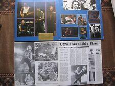 U2 Rock Hottest TICKET GATEFOLD 3 LP/VINILE LIVE DUBLINO 1987 & 12/page booklet!