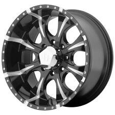 "4-Helo HE791 Maxx 16x8 8x6.5"" +0mm Black/Milled Wheels Rims 16"" Inch"