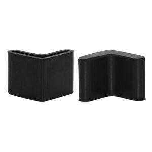 Flyshop 4PCS Rubber Angle Iron Caps Shelving Feet Protectors Bed Frame End Caps