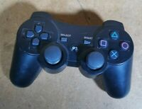 3rd Party Black PlayStation 3 Wireless Controller PS3 Control Pad - CECHZC2U