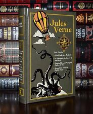 Jules Verne 4 Novels Under Sea Center Earth New Deluxe Leather Bound