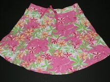 Lilly Pulitzer Women SZ SM Skirt Garden Vista Cotton Knit Twirl Pink Elephants