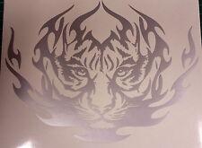 """Tigre tribal argent - 8 """"x 6"""" Vinyle Autocollant Voiture personnalisé, stickers, graphiques"""