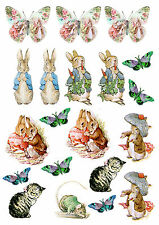Edible Toppers 20 Peter Rabbit images cupcake toppers cake decoration children