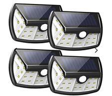 InnoGear Upgraded Solar Lights Outdoor, Motion Sensor Light Wide Lighting 4pk!~!