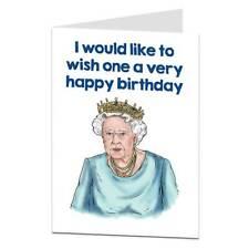 More details for funny birthday card for mum best friend silly humorous unusual queen design