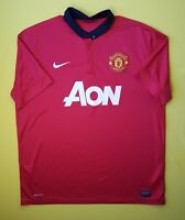 4.5/5 Manchester United jersey XL 2013 2014 home shirt 532837-624 soccer Nike