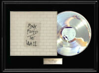 PINK FLOYD THE WALL ALBUM FRAMED LP WHITE GOLD SILVER PLATINUM TONE RECORD RARE