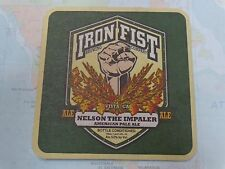 Beer Coaster ~ IRON FIST Brewing Nelson Impaler American Pale Ale ~ Vista, CALIF