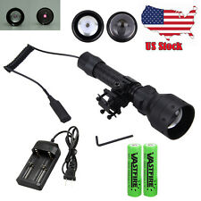 T50 850nm IR Infrared Night Vision LED Zoom Flashlight Torch 18650+Remote Switch