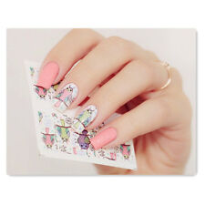 BORN PRETTY Nail Art Water Decals Transfer Stickers Colorful Owl Manicure W02