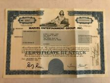 6 Marvel Entertainment Group Stock Certificate 1992 Comics Avengers X-Men Lee #3