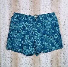 Eddie Bauer Sport Men's Swim Trunks Short Size Large Teal Floral Invo: G54