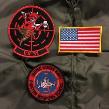 US NAVY VX-31 DUST DEVILS TOP GUN PATCH SET, for CWU-36/P CWU-45/P Flight Jacket