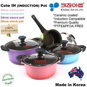 Non-Stick Cooking Casserole, Ceramic Coated*Induction*Dutch Oven*Nonstick*Korea*