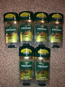 Lot of 6 Special Edition Mitchum Men Curve Anti-Perspirant Deodorant Gel 2.85 oz