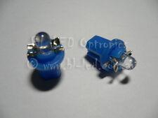 2x 12V B8.5D 509T LED Car Instrument Cluster Gauge Twist Lock Bulbs Blue