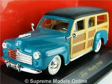 FORD WOODY 1948 CAR MODEL 1/43RD SIZE TURQUOISE AMERICAN USA VERSION R0154X{:}