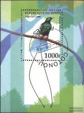 Benín Bloque 21 (edición completa) usado 1996 Aves